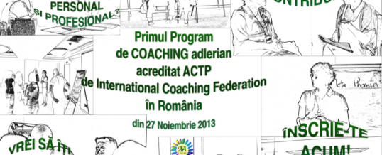 Program de COACHING adlerian acreditat ACTP de către ICF